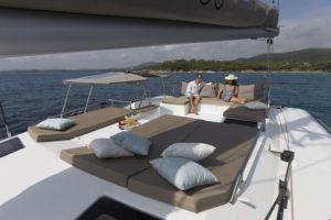 Saba 50 Sailing Catamaran for bare boat and skippered charters in Italy by Catamaran Charter Italy