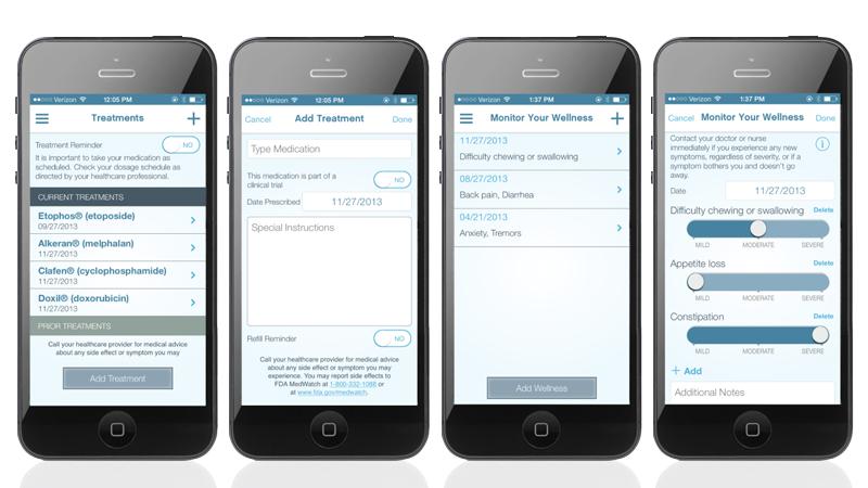 Patient App on Mobile Display