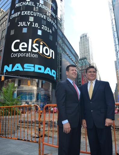 Celsion on the NASDAQ Screen