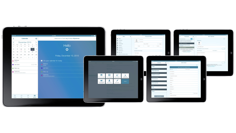 Patient App's User-Friendly Interface on iPad