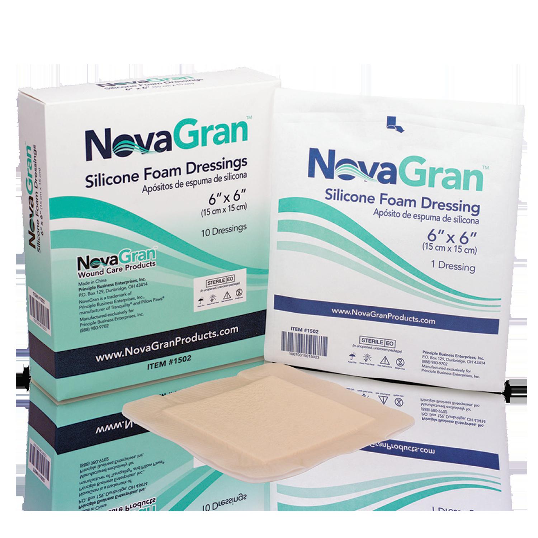 NovaGran Silicone Foam Dressings