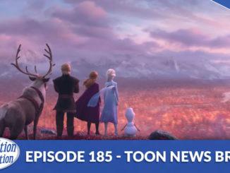 Anna, Elsa, Kristoff and Olaf staring at the horizon