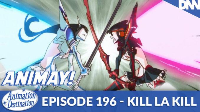 Satsuki and Ryuko fighting