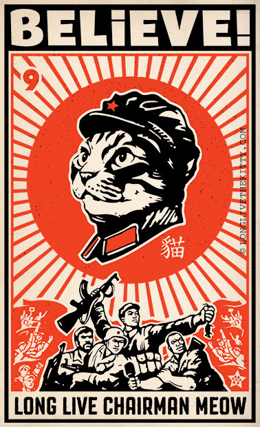 poster believe long live chairman meow