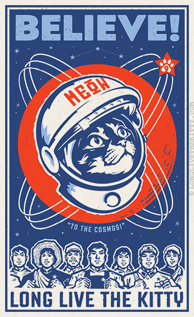 poster believe long live kitty cosmos