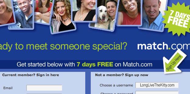 7 days free at match.com