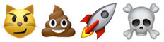 cat poop rocket poop emoji
