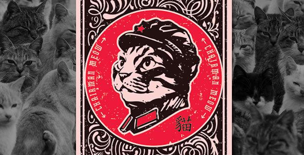 chairman meow poster design