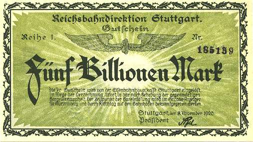 5 billion German marks