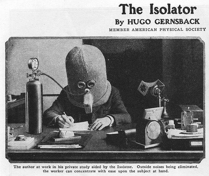the isolator anti distraction helmet