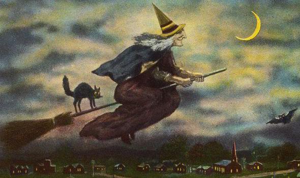witches black cat plague