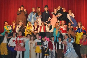Cast of A FAIRYTALE CHRISTMAS at Kings Mountain Community Theatre.