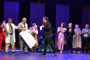 Sheriff Charlie McDonald is crowned the winner of Theatre with the Stars 2015.