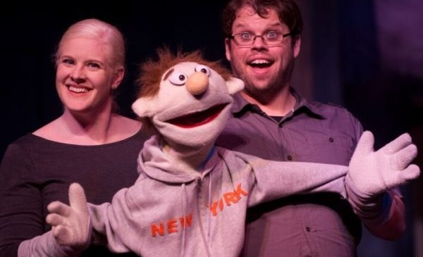 "Blair and Ben Dawkins in ""Avenue Q"" at Spartanburg Little Theatre."