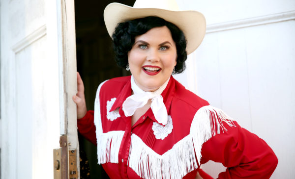 """Katie Rockwell in """"Aways...Patsy Cline."""" Photo by Escobar Photograghy."""