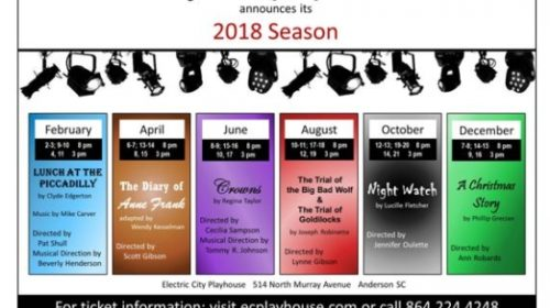 Electric City Playhouse Announces 2018 Season