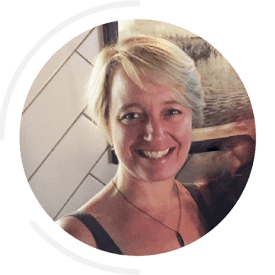 Portrait of Silja Meier Burns, Owner and Instructor at Dancing Hammock Pilates and Movement