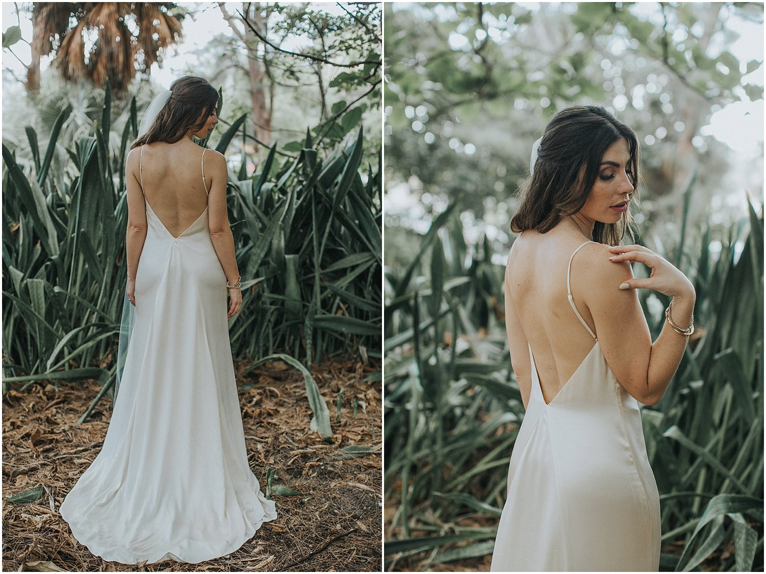 bridal portraits in the forest