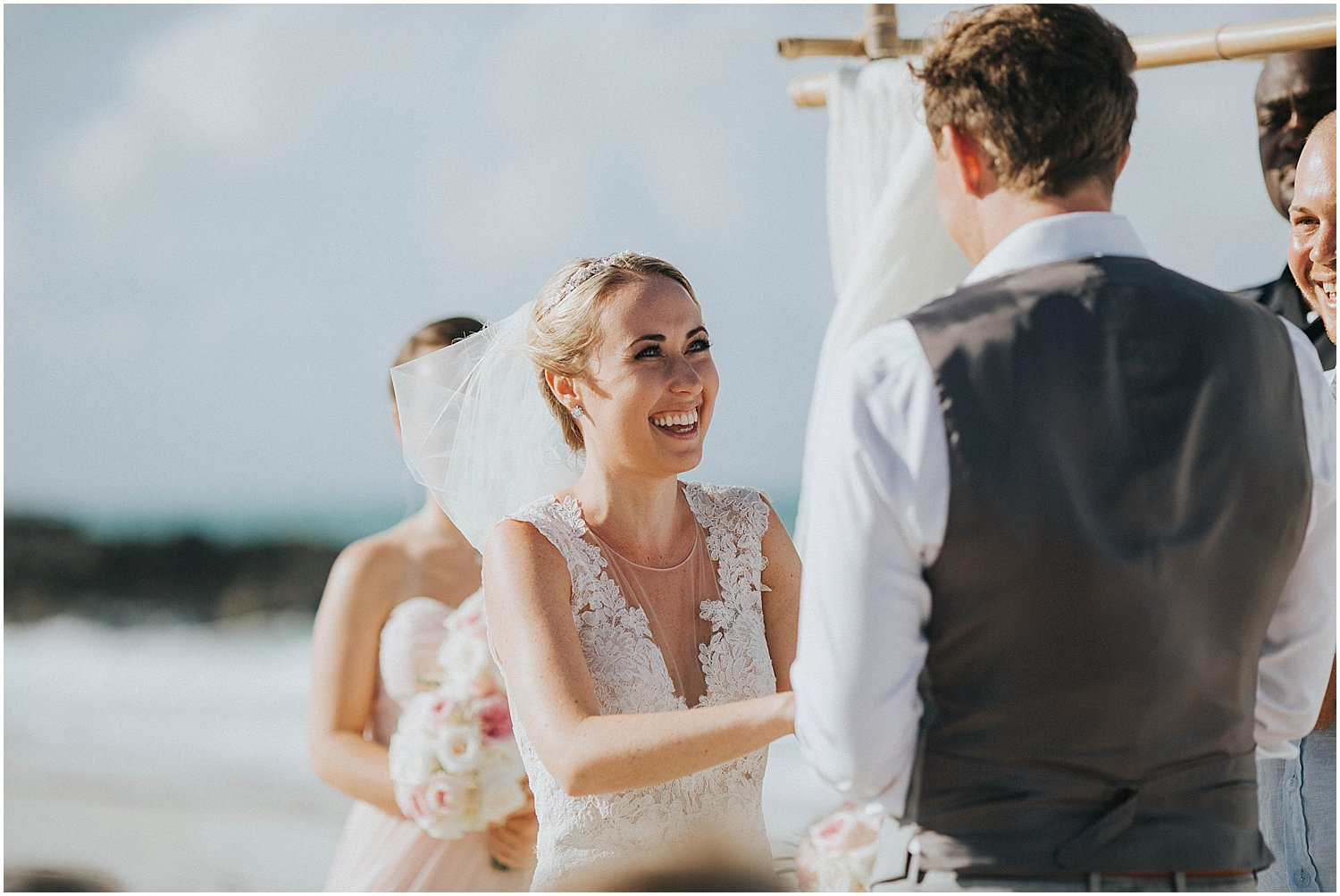 great exuma beach wedding