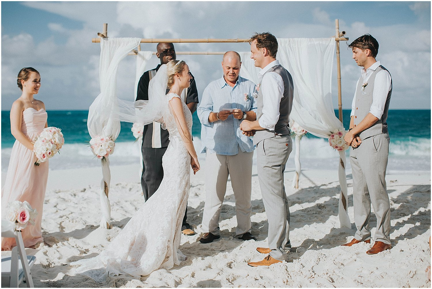 bahamas beach wedding