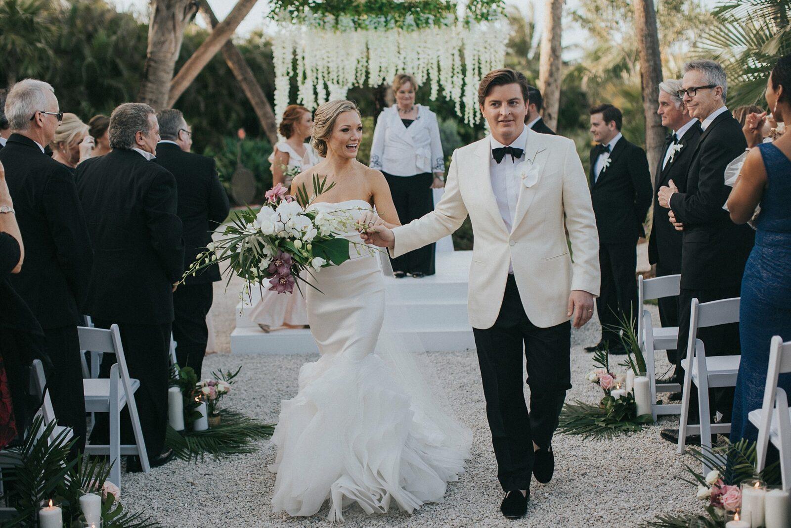 tropical south florida wedding