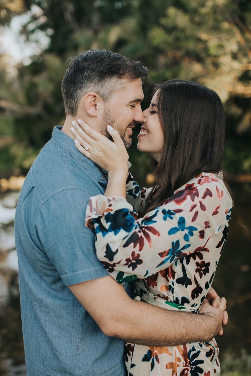 romantic florida engagement photos
