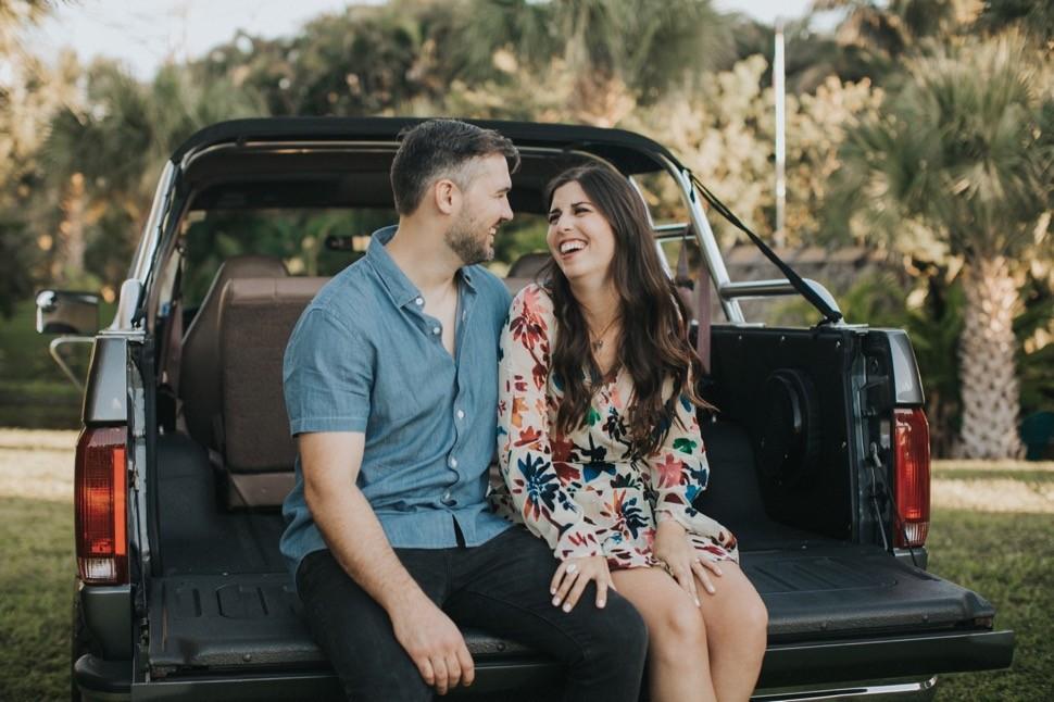 vintage truck engagement session