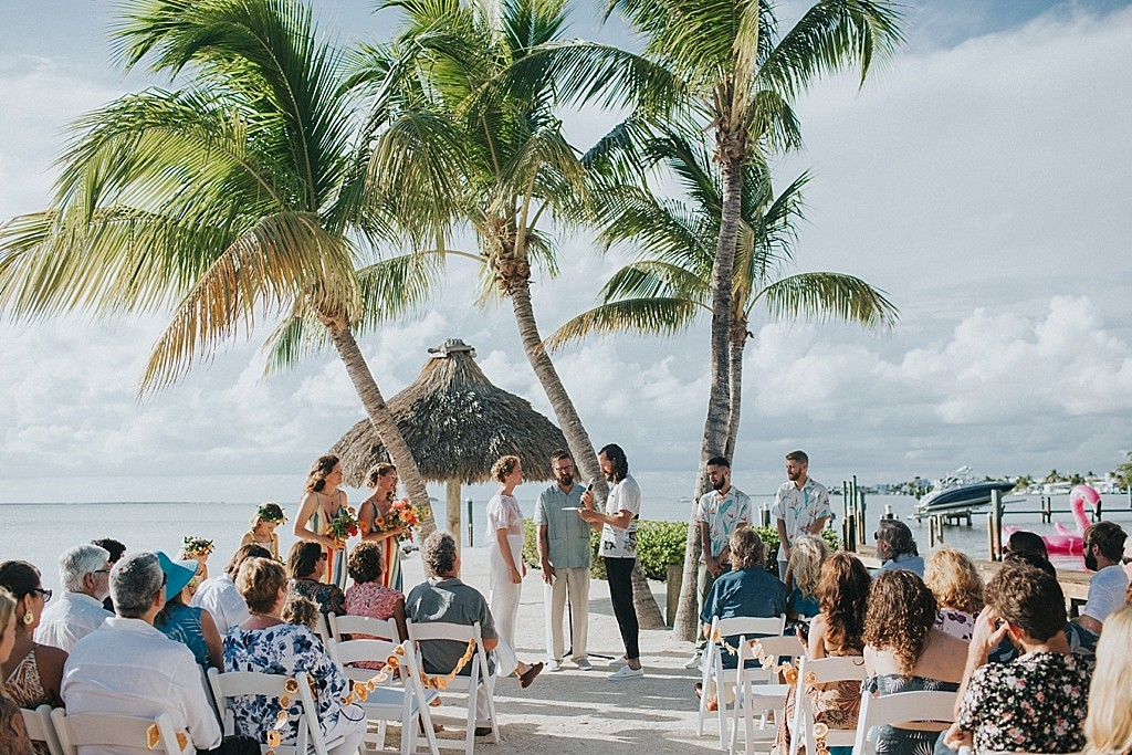 tropical water front keys wedding