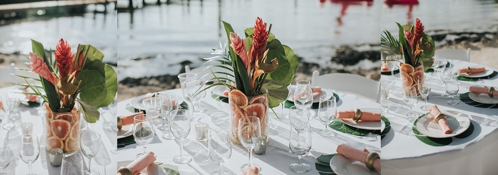 tropical wedding details