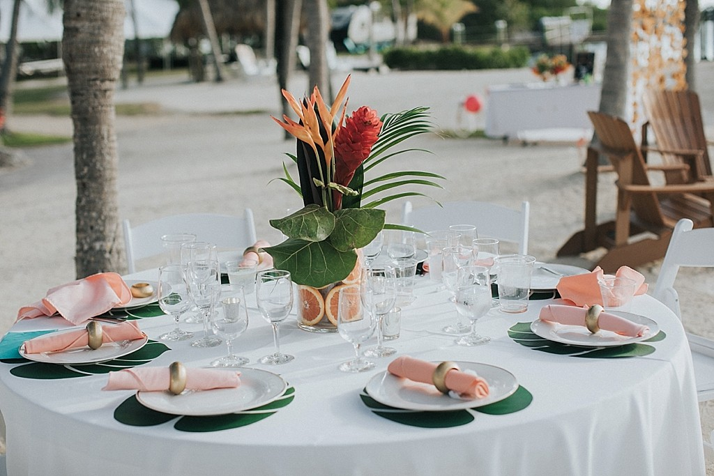 tropical wedding details