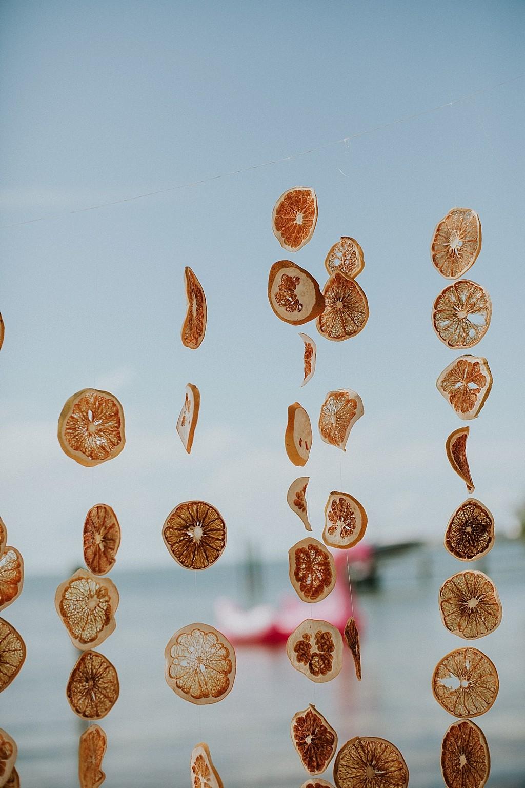 hand dried oranges