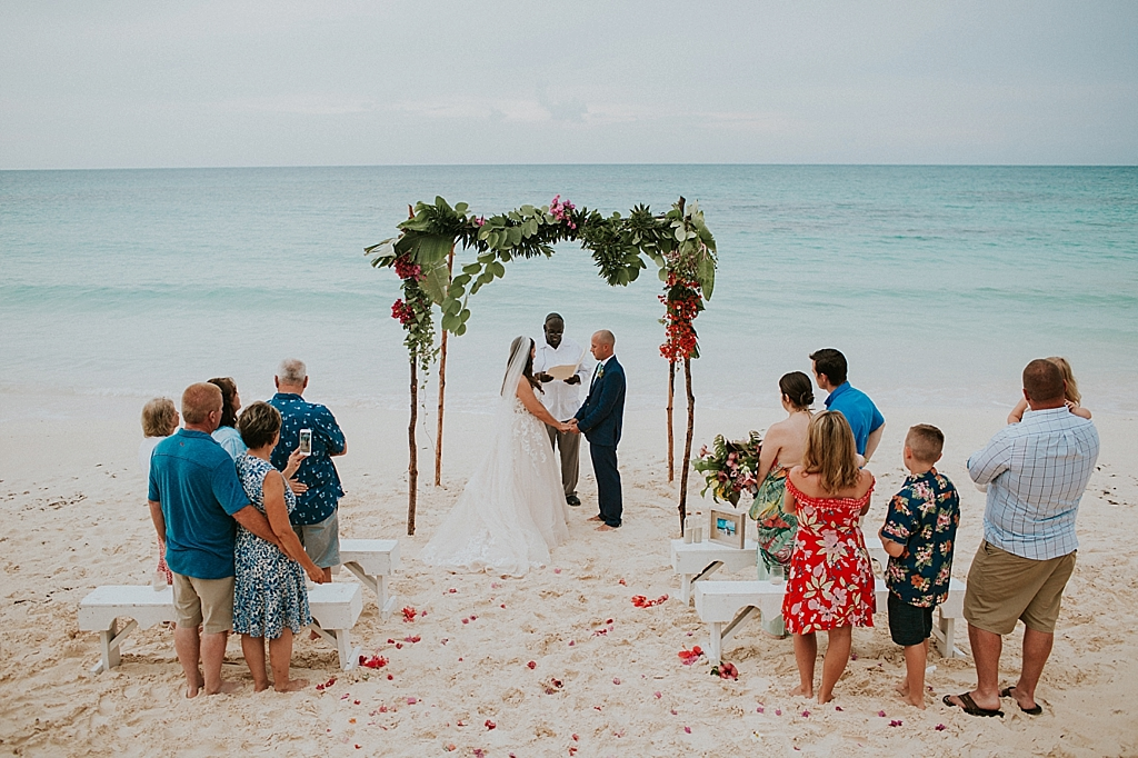 intimate bahamas beach wedding
