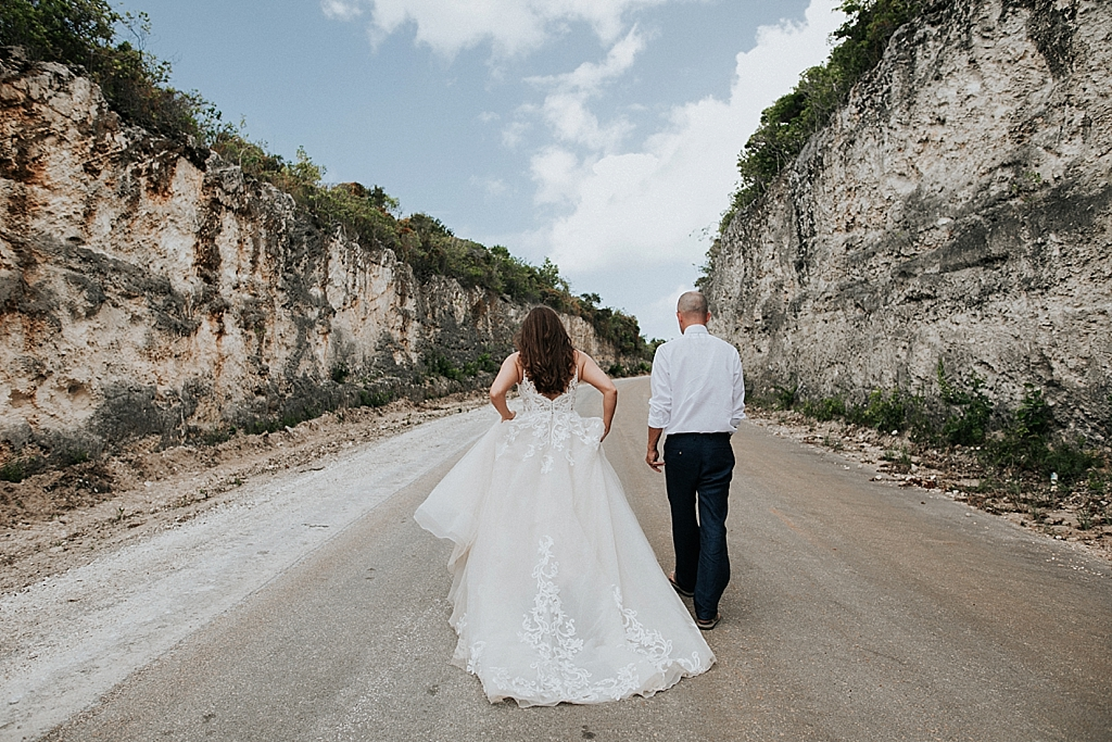 exploring the bahamas with the bride and groom
