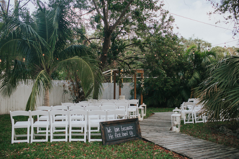 outdoor wedding ceremony miami