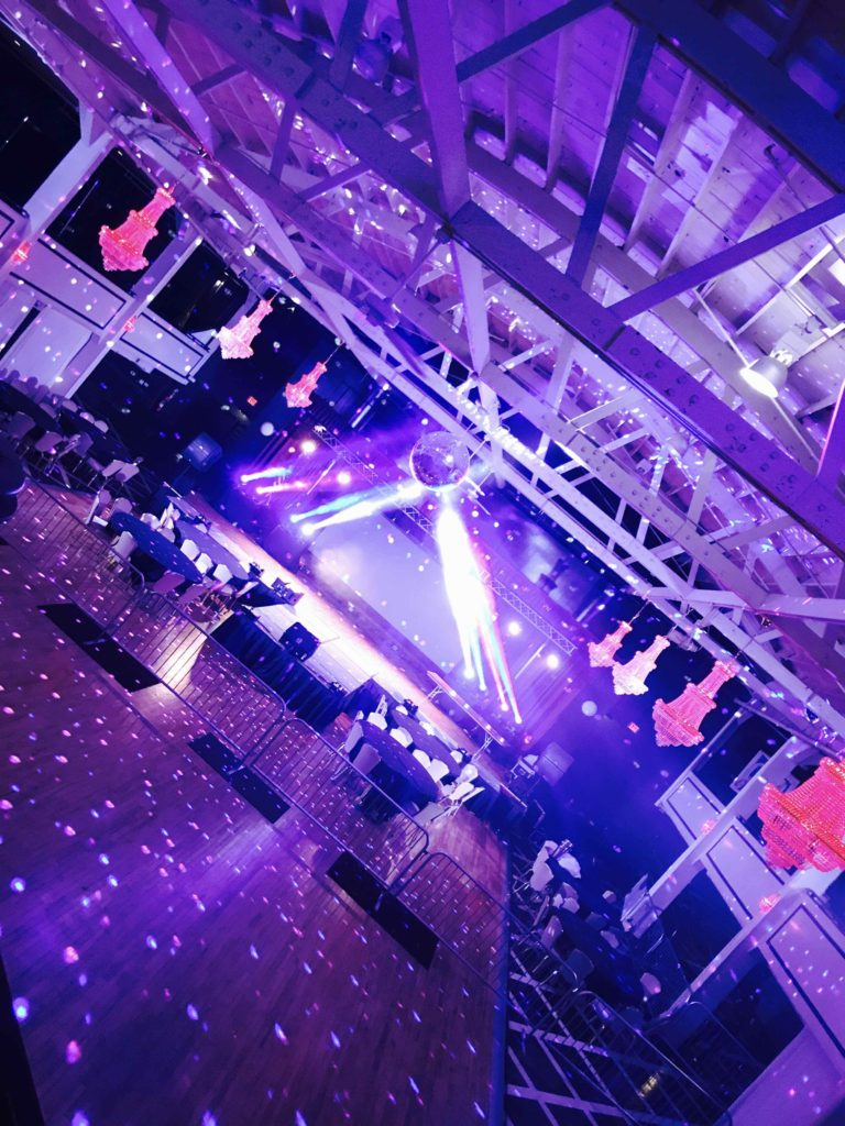 Valley Dale Ballroom. Largest Dance Floor in Central Ohio. LED Lighting.