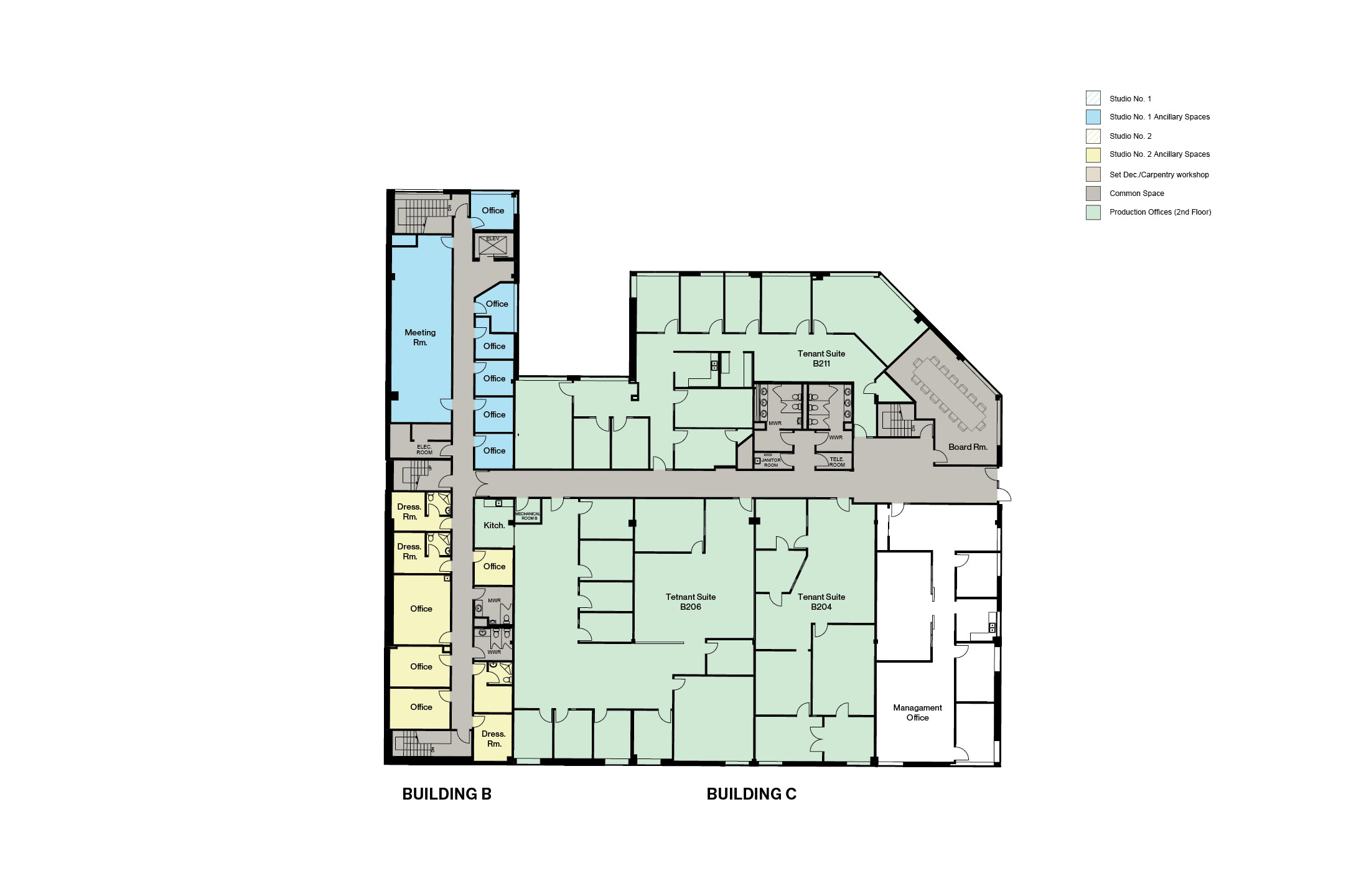 Buildings B/C Ground Floor Floorplan