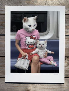 Hello Kitten by Matthew Grabelsky print giveaway
