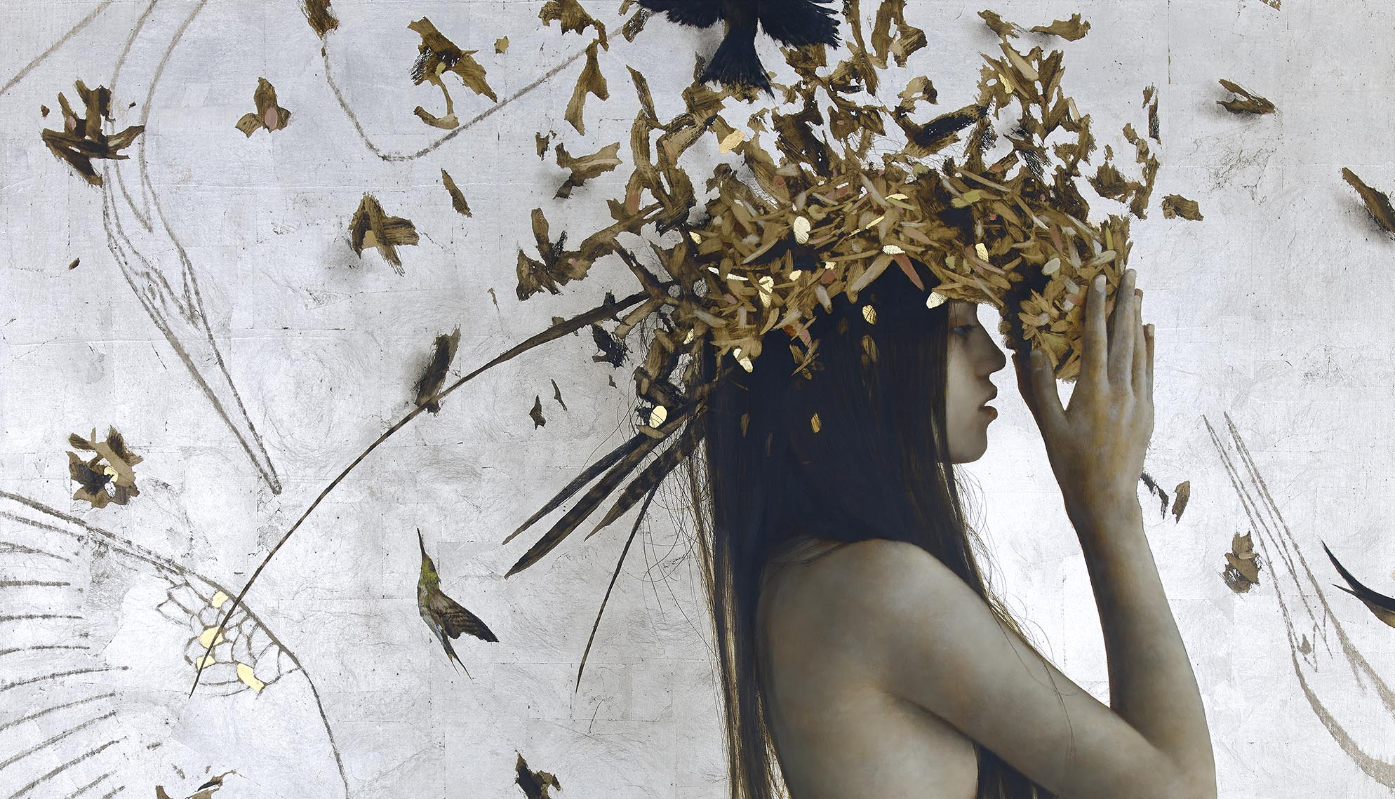 Brad Kunkle figurative painting on the cover of beautiful bizarre art magazine issue 27