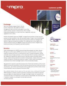 Customer Profiles - MIPRO