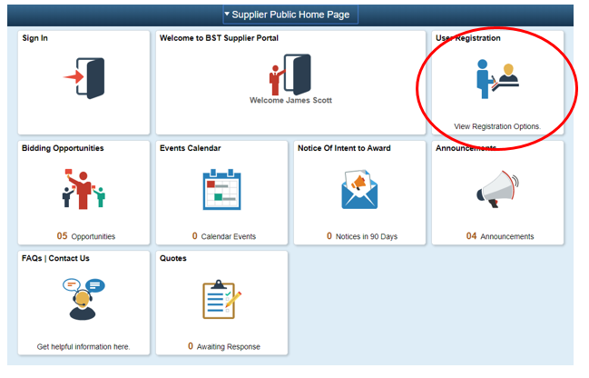 Supplier Public Home Page