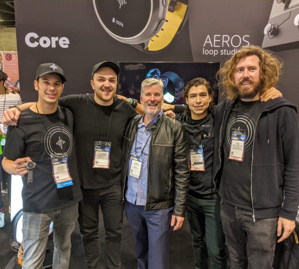 NAMM 2020 SoundBrenner Team with David W. Hansen