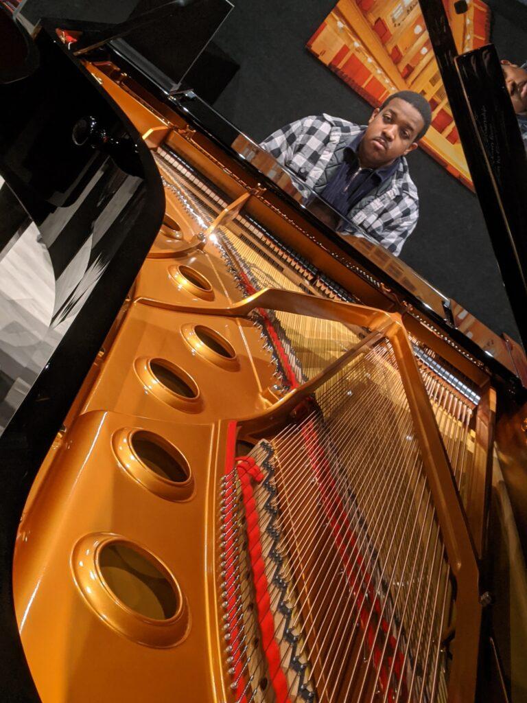 NAMM 2020 YAMAHA concert grand piano, Jordan Baker, Garden District Band