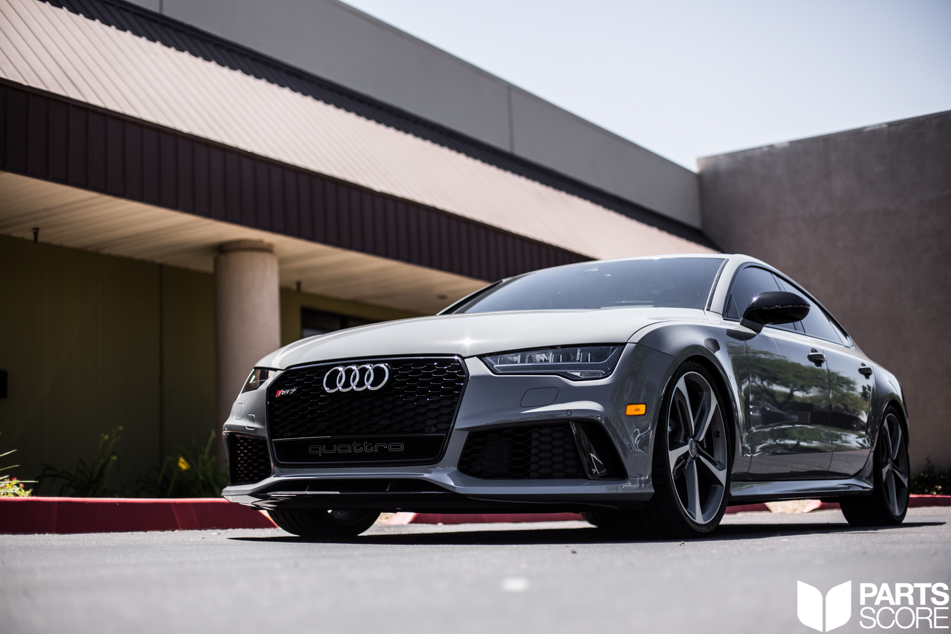 Audi, RS7, AudiRS7, Twinturbo, V8, H&R, Lowering module, Nardo grey, 2016, OEMplus