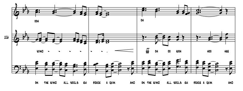 On the Wind - SATB+Rhythm