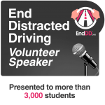 End Distracted Driving Badge