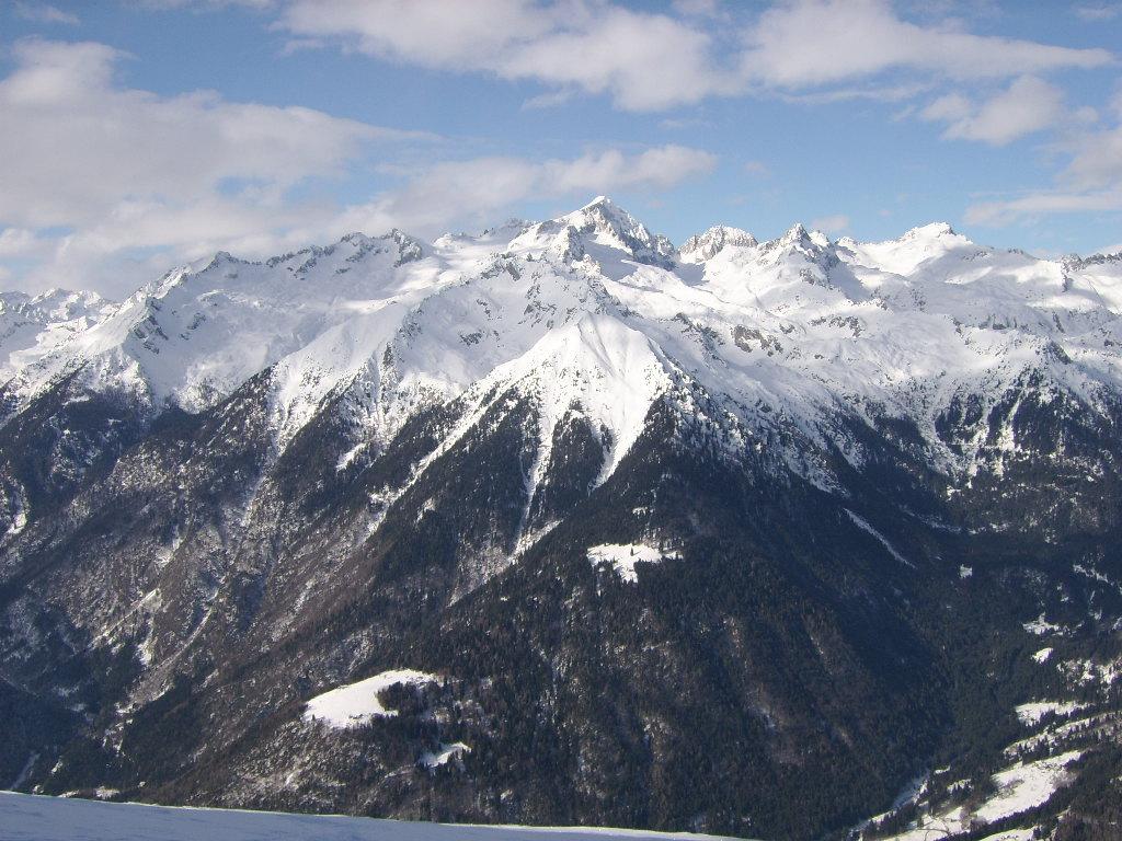 Cavria in Winter by Giampiero Ambrosi as seen from Pinzolo ski area