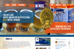 Fair Winds Brewing Website