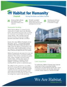 Habitat for Humanity Fact Sheet