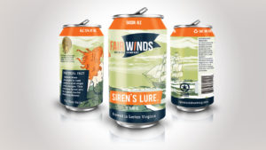 Fair Winds Brewing Beer Can Label
