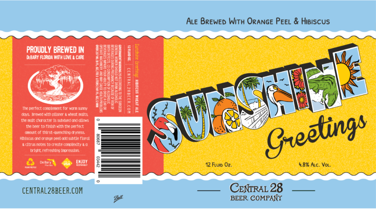 Central 28 Beer Company Beer Label
